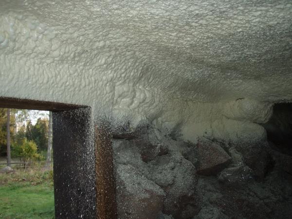 ...общих тепловых потерь происходит через пол... которые используют, выполняя утепление подпола в частном доме и пола.
